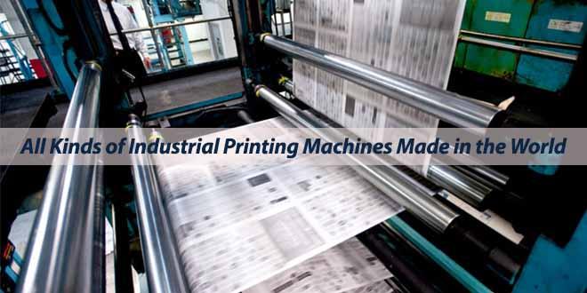 انواع ماشین آلات چاپ صنعتی